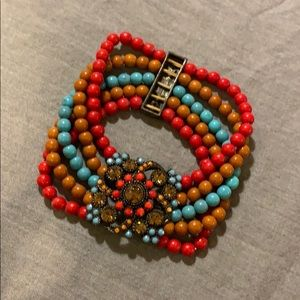 Jewelry - Red Brown Turquoise Bracelet